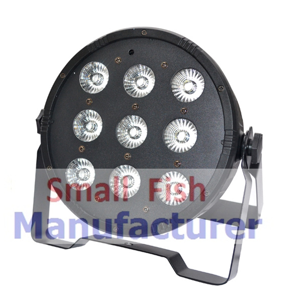 1XLOT Free shipping 9x10W 4in1 RGBW Led Stage Light High Power LED Flat Par Can Disco Projector Lighting DMX DJ Party Lights tiptop tp g3045 12x12w led mini par can slim par light high power flat par64 rgbw 4in1 stage lighting club party lighting show