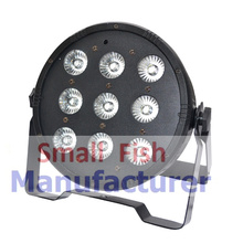 1XLOT Free shipping 9x10W 4in1 RGBW Led Stage Light High Power LED Flat Par Can Disco Projector Lighting DMX DJ Party Lights 24x lot rasha quad factory price 12 10w rgba rgbw 4in1 non wireless led flat par can disco led par light for stage event party