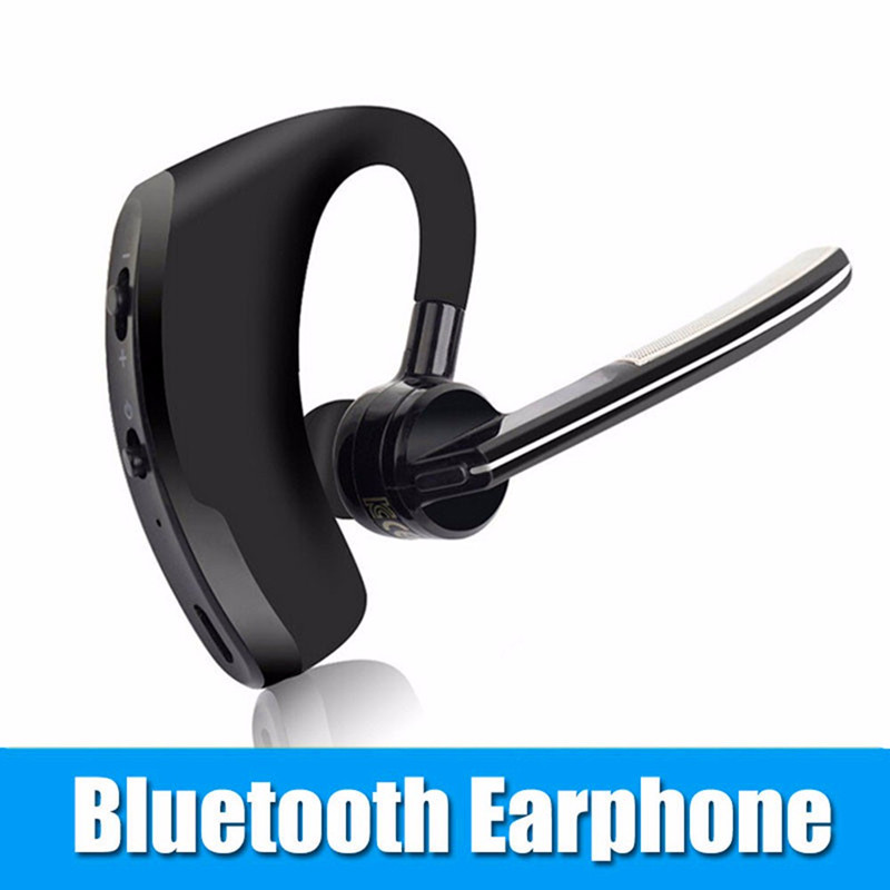 New V8 Wireless Bluetooth Earphone Voice Report Number Car Driver Handsfree HD Stereo Headphone With Microphone for Mobile Phone remax t9 mini wireless bluetooth 4 1 earphone handsfree headset for iphone 7 samsung mobile phone driving car answer calls