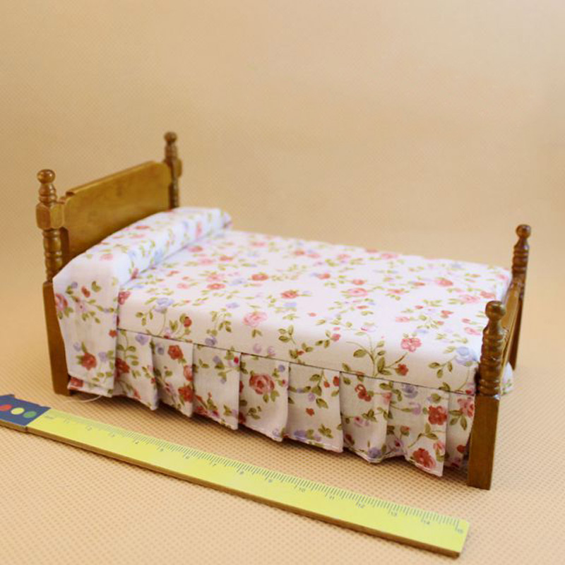 Buy 1 12 Wooden Dollhouse Miniature Bed