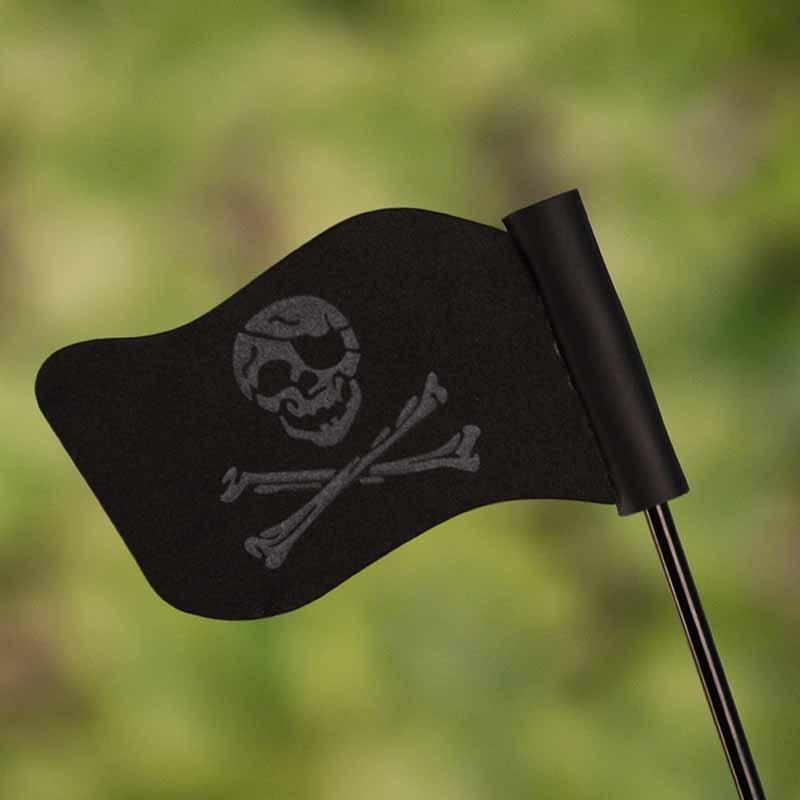 Mew Black Jolly Roger Pirate Flag Car Antenna Pen Topper Aerial Ball Decor Toy