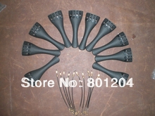 10 PCs Carbon Fiber Violin Tailpiece with 10 PCs Tail guts All 4/4
