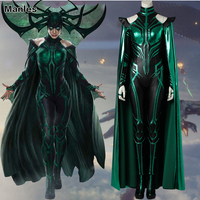 Trailer Hela Cosplay Costume Thor Ragnarok Cosplay Movie Thor 3 Outfit Sexy Women Suit Fancy Clothes Halloween Cloak Boots Adult