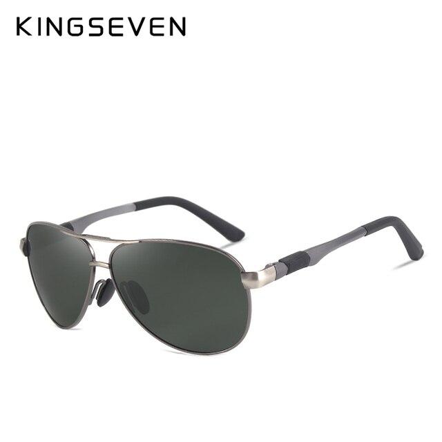 KINGSEVEN Metal Polarized Sunglasses Driving Men Women Brand Designer Glasses Fashion Eyewear 100% UV Protection  1