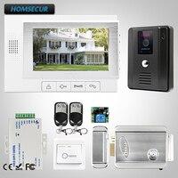 HOMSECUR 7 Видео и Аудио Смарт дверной Звонок + Двухсторонний Интерком для безопасности дома TC011 B + TM702 W