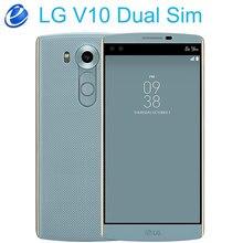LG V10 H961N 2 sim 4 4G LTE デュアル Sim アンドロイド携帯電話ヘキサコア 5.7 ''16.0MP 4 ギガバイト RAM 64 ギガバイト ROM 2560*1440 スマートフォン