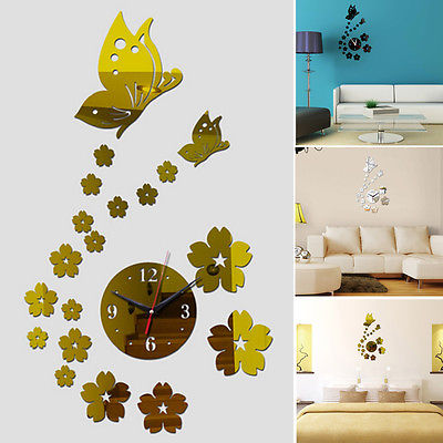 Butterfly DIY Mirror 3D font b Acrylic b font stickers For Living Room font b Home popular acrylic home design buy cheap acrylic home design lots,Acrylic Home Design