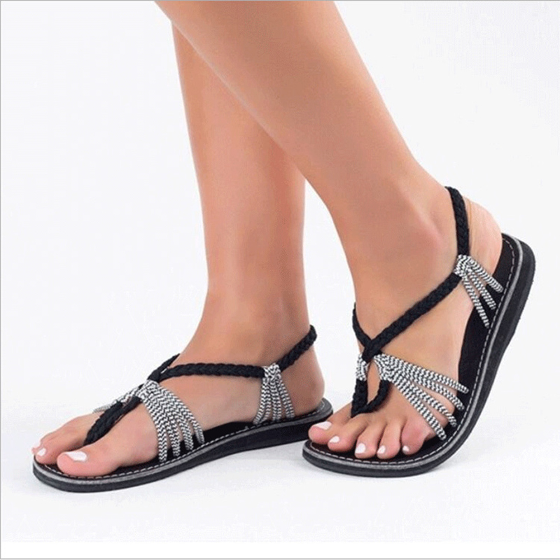 New summer slippers women peep toe beach flip flops ladies shoes large size black roman sandals 2018 summer sandals for women new shoes peep toe sandalias flat shoes roman sandals shoes woman mujer ladies flip flops footwear
