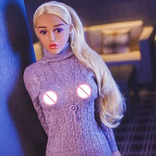 Pinklover 148cm Blond Hair Middle Breast Young Silicone Sex Doll