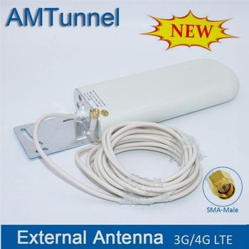 4G antenas SMA WIFI router cable 3g 4g LTE antena al aire libre de 2,4 Ghz antenne, 5 m cable para huawei ZTE router modem
