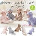 Outono inverno macacão de bebê flanela roupa do bebé dos desenhos animados de animais ovelhas coelho urso da menina macacão roupa do bebê