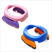 Blue Color pink Baby Travel Potty Chair 2 in 1 Seat Kids Comfortable Portable Toilet Assistant