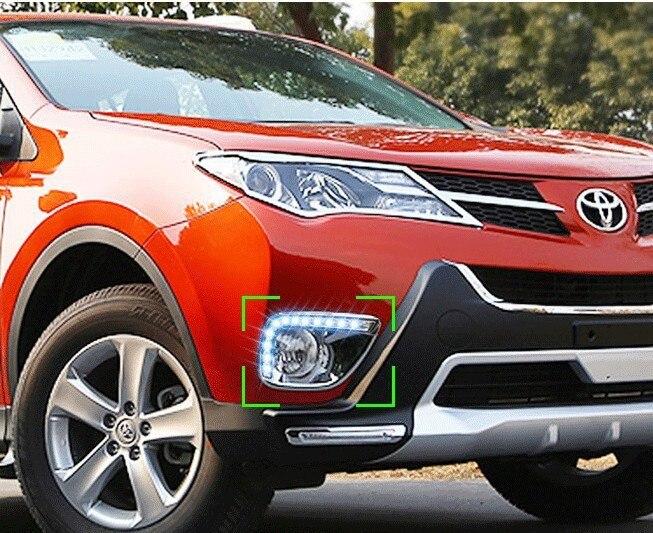 Бесплатная доставка ,новое прибытие , светодиодные DRL фары дневного света противотуманные фары для автомобиля конкретной 2013-14 Тойота RAV4 с автоматическим выключением