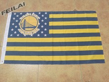 Golden State Warriors Flag 3×5 FT 150X90CM Banner 100D Polyester NBA flag , free shipping