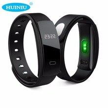 Huiniu QS80 Bluetooth SmartBand сообщение напоминание Смарт Браслет артериального давления Браслет фитнес-трекер Браслет для IOS Android
