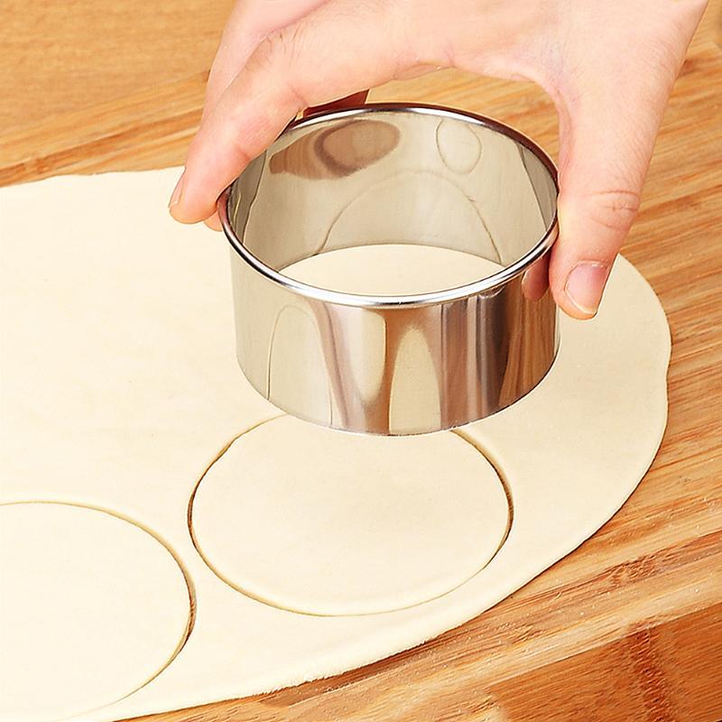 3 шт./компл. нержавеющая сталь круглые пельмени обертки формочки Набор Резак чайник инструменты Круглый печенья тесто обертка тесто режущий инструмент