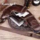 Cobbler Legend Men's Vintage Genuine Leather Travel Messenger Shoulder Bags for Men Cross Body Chest Pack Bag For Men - 5