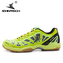 Suntech Breathable Badminton Shoes For Men  Women Anti-Slippery Outdoor Sport Shoes Lace holder sneaker