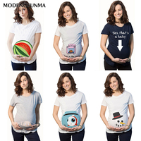 Maternity T-shirt 2019 New Maternity Clothing Breastfeeding Clothes Watermelon Printing Pregnant Clothes Cotton Fashion Pregnant
