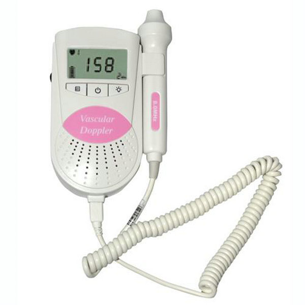 Free Shipping 3MHz Pink Sonoline-B LCD Display Fetal Heart Rate Monitor Fetal Dopple With Free Gel