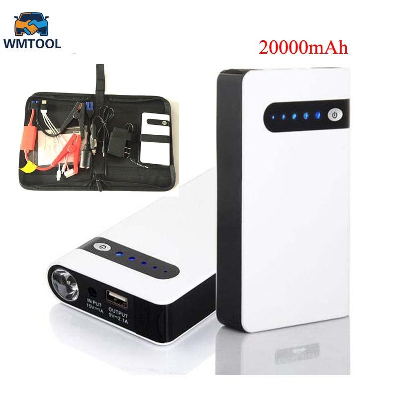 2018 Mini Car Jump Starter 20000mAh Emergency Starting Device Lighter Power Bank 12V Car Charger For Car Battery Diesel цена
