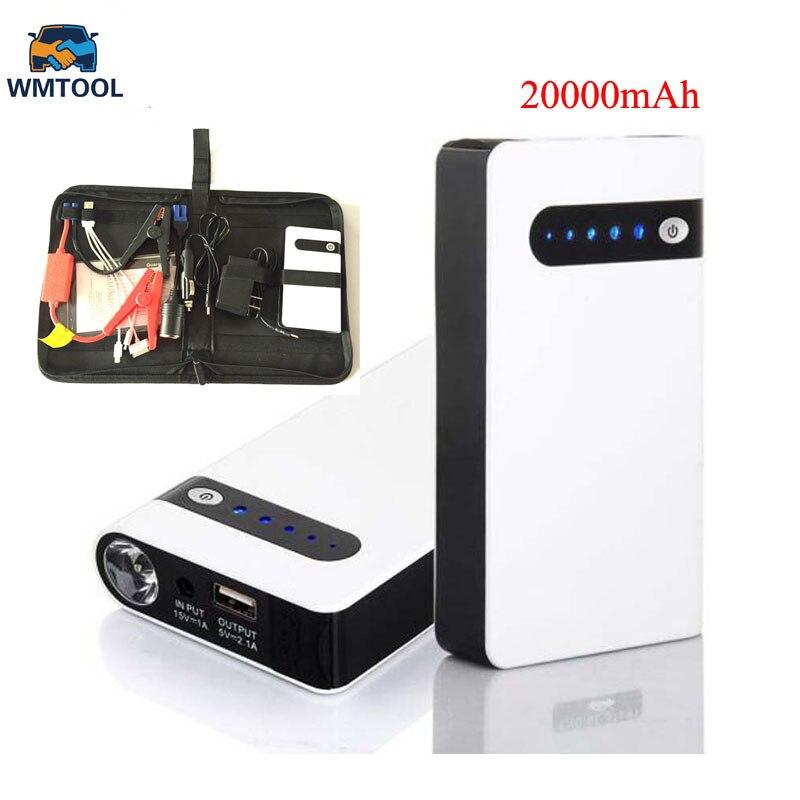 2018 Mini Car Jump Starter 20000mAh Emergency Starting Device Lighter Power Bank 12V Car Charger For