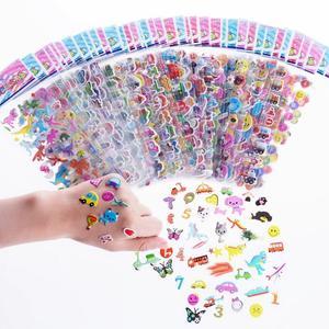 Image 4 - ילדים מדבקות 1200 +, 40 גיליונות שונים, 3D נפוח מדבקות לילדים, בתפזורת מדבקות לילדה ילד יום הולדת מתנה, רעיונות