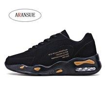 ARANSUE Four seasons men's casual shoes Simple trend Portable outdoor shoes Lace up men's shoes size 39-44