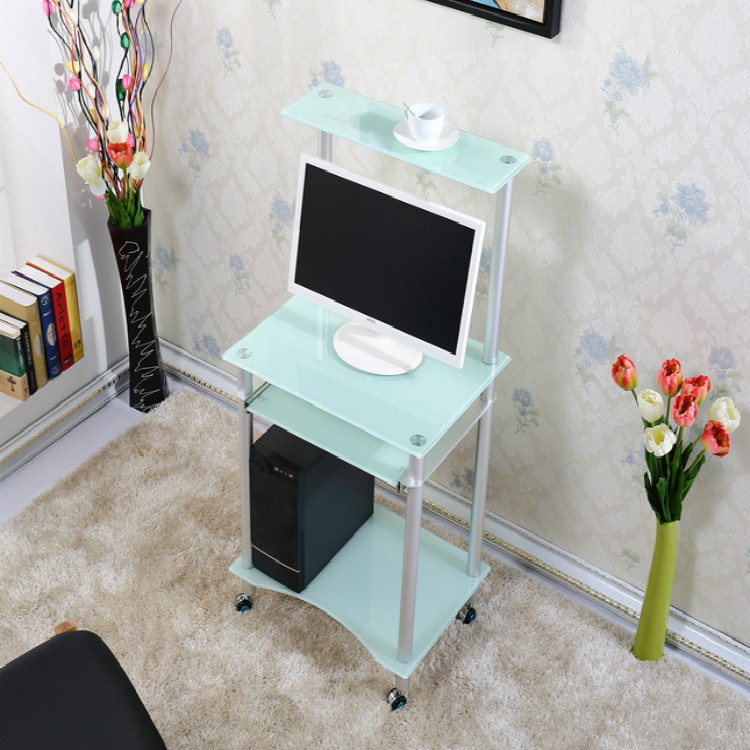 table Small apartment home desktop computer desk laptop learning ...