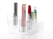 Acrylic 24 Lipstick Clear Holder Display Stand Cosmetic  Rack Organizer Makeup Make up Case Box Storage Container