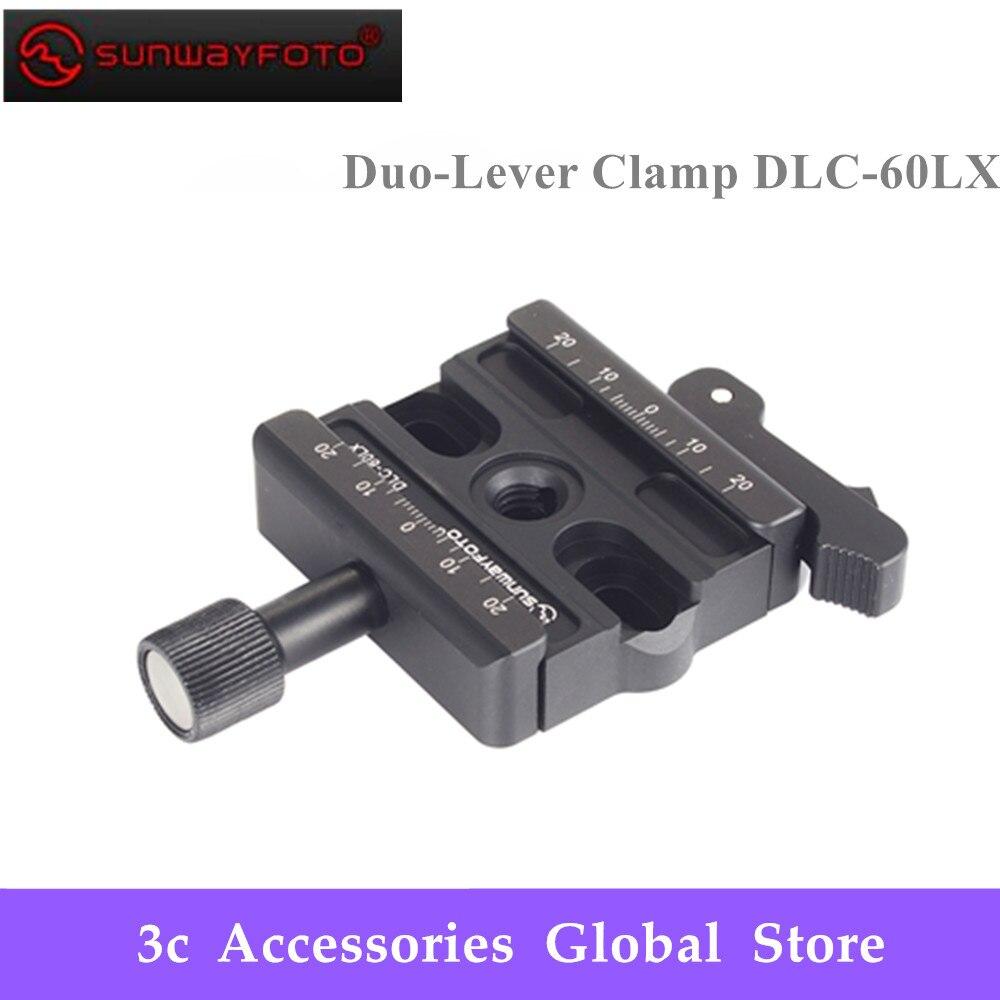 SUNWAYFOTO DLC 60LX Tripod Head Quick Release Clamp For DSLR Tripode Quick Release Clamp Plate BallHead