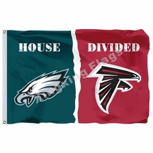 Philadelphia Eagles NFL Atlanta Falcons Casa Dividida Bandeira três pés X  5ft Poliéster Bandeira Tamanho N ° 4 144 96 cm Bandeir. 7f9837d1295