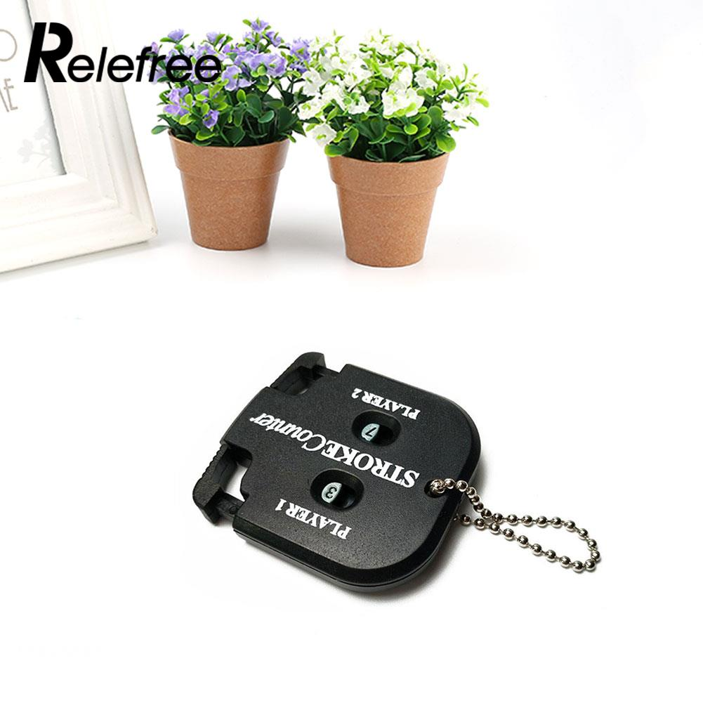 Golf Count Shot Stroke Score Counter Scoring Golfing with Key Chain Black AU