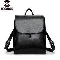 Fashion Women Backpack High Quality Youth Leather Backpacks for Teenage Girls Female School Shoulder Bag Lock Bagpack mochila