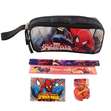 1 set children Spiderman school Pencil Case boys high quality stationery set cartoon nylon pencil bag