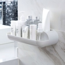 OTHERHOUSE ABS Bathroom Wall Shelf Rack Bathroom Shower Organizer Shampoo Cosmetic Holder Storage Basket Shelves Household Items