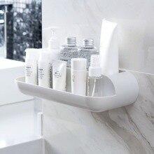 Otherhouse abs banheiro prateleira de parede rack banheiro chuveiro organizador shampoo cosméticos titular cesta armazenamento prateleiras artigos do agregado familiar