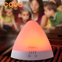 Pyramid Ultrasonic Aromatherapy Oil Diffuser Humidifier 7Color Cozy Led Lights Timing Function For The Baby Room