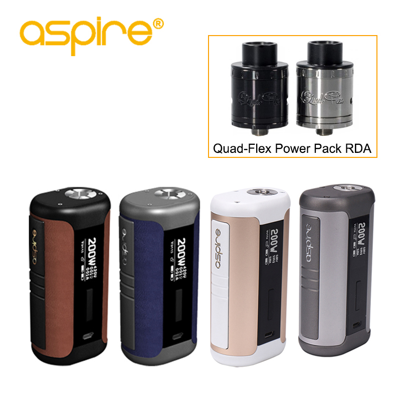 Electronic Cigarette Aspire Speeder Mod 200W Output 510 Vape Device Support TC VV VW TCR CPS