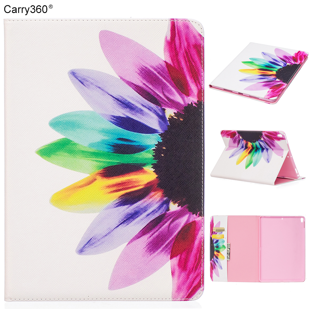Case for iPad Pro 10.5 inch, Carry360 New Cute Flower Bird Butterfly PU Leather Stand Smart Cover Case for Apple iPad Pro 10.5