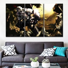 One Set Modular Combinatorial Art Painting 3 Piece Canvas Print Anime Goblin Slayer Shield Sword Poster Home Decor Wall Picture