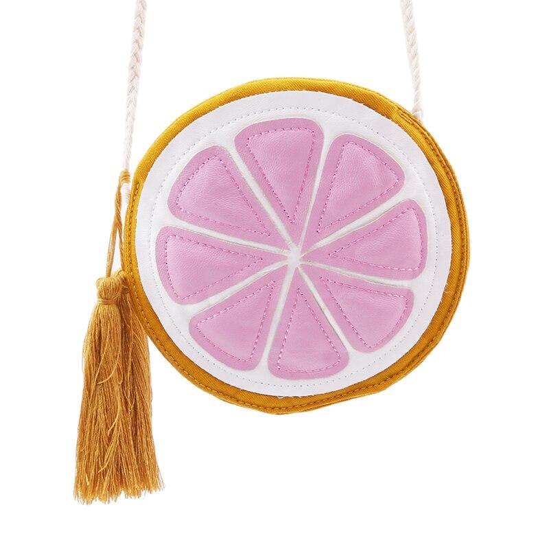 Gutherzig Neue Reizende Zitrone Form Messenger Taschen Geldbörse Frauen Runde Zitrone Muster Umhängetasche Einfache Zipper Satchel Schulter Tasche Crossbody-taschen