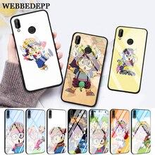 WEBBEDEPP Anime Dr. Slump Arale Little Girl Glass Case for Huawei P10 lite P20 Pro P30 P Smart honor 7A 8X 9 10 Y6 Mate 20