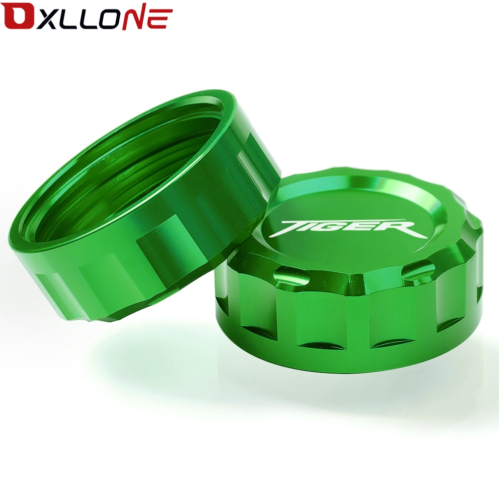 Image 2 - Motorcycle Aluminum CNC Motorbike Rear Cylinder Reservoir Cover Brake Master Fluid Cap For TRIUMPH TIGER 800 2011 2012  2014-in Covers & Ornamental Mouldings from Automobiles & Motorcycles