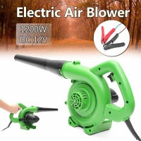 Green Portable Electric Air Blower Handheld Garden Leaf Collector Car Computer Cleaner Dust Air Blower Collecting Machine 1200W