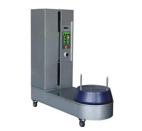 Automatic airport luggage stretch wrapping machinery,plastic film roll wrapper,packing equipment,package solution bag packaging