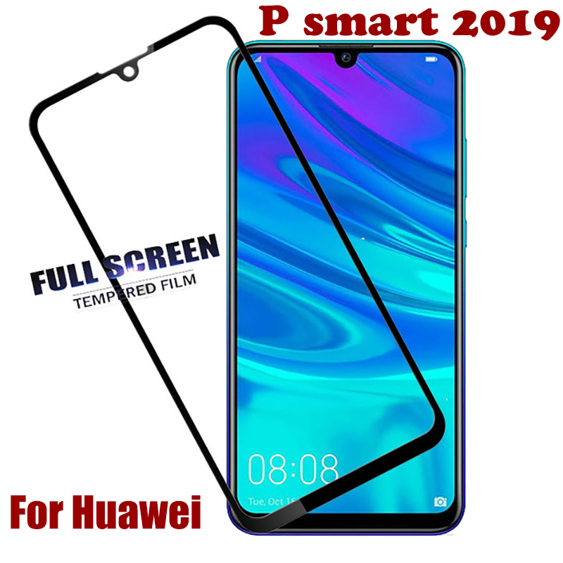 Tempered Glass For Huawei P Smart 2019 Full Cover Protective Film For Huaway Psmart 2019 POT-LX1 6.21inch Screen Protector Glass