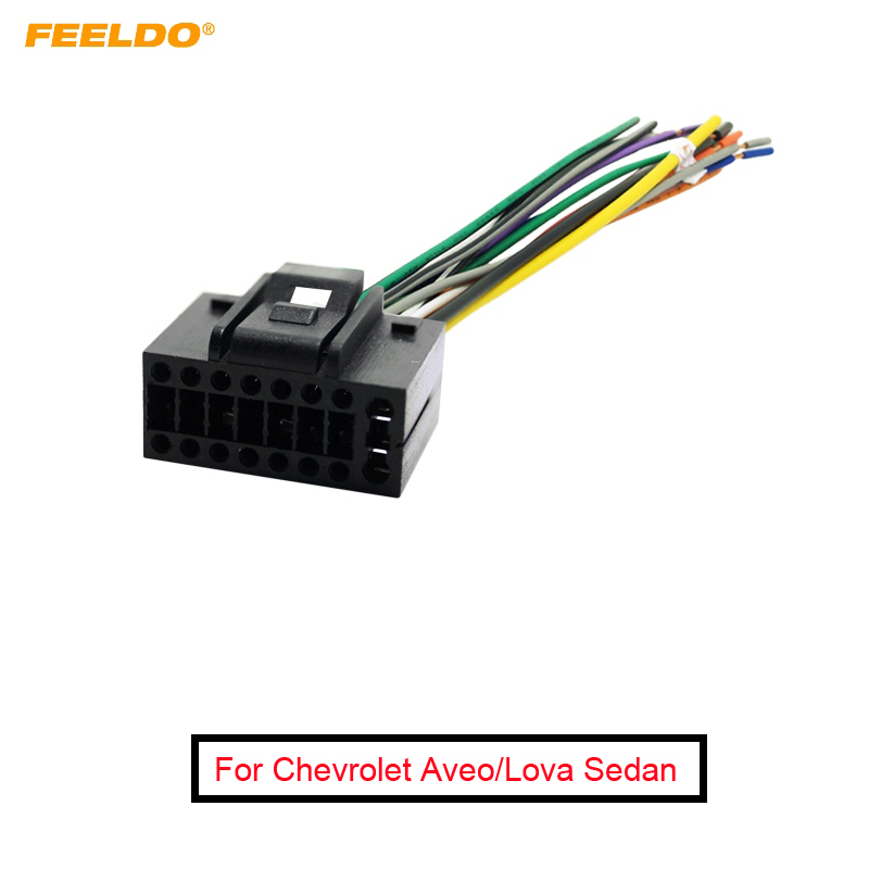 car wiring harness plug feeldo 1pc car radio stereo wire harness plug cable 16 pin male  car radio stereo wire harness plug