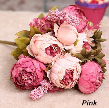 Wholesale 100pcs 8 headsbunch large peony bouquet vintage wholesale 100pcs 8 headsbunch large peony bouquet vintage artificial silk flowers for home wedding christmas decorations in artificial dried flowers mightylinksfo