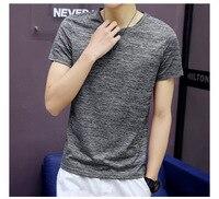 Футболка с круглым вырезом и короткими рукавами в полоску, Мужская футболка большого размера, Корейская версия тренда мужской одежды